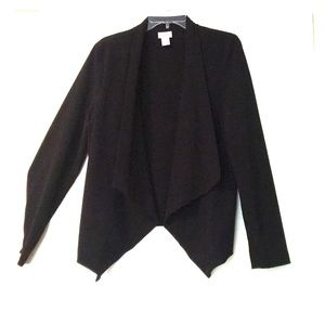Motherhood Maternity Black Drape-front Blazer